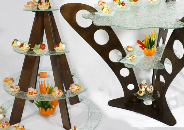 Buffet display stand & dinner plates